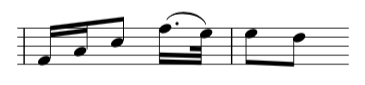 fur elise music sheet, bar 25 in the right hand.  Photo credit: the complete classical piano course.