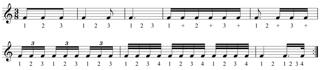 fur elise showing you how to count each type of rhythm. Image credit: the complete classical piano course