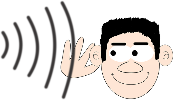 cartoon picture of man listening