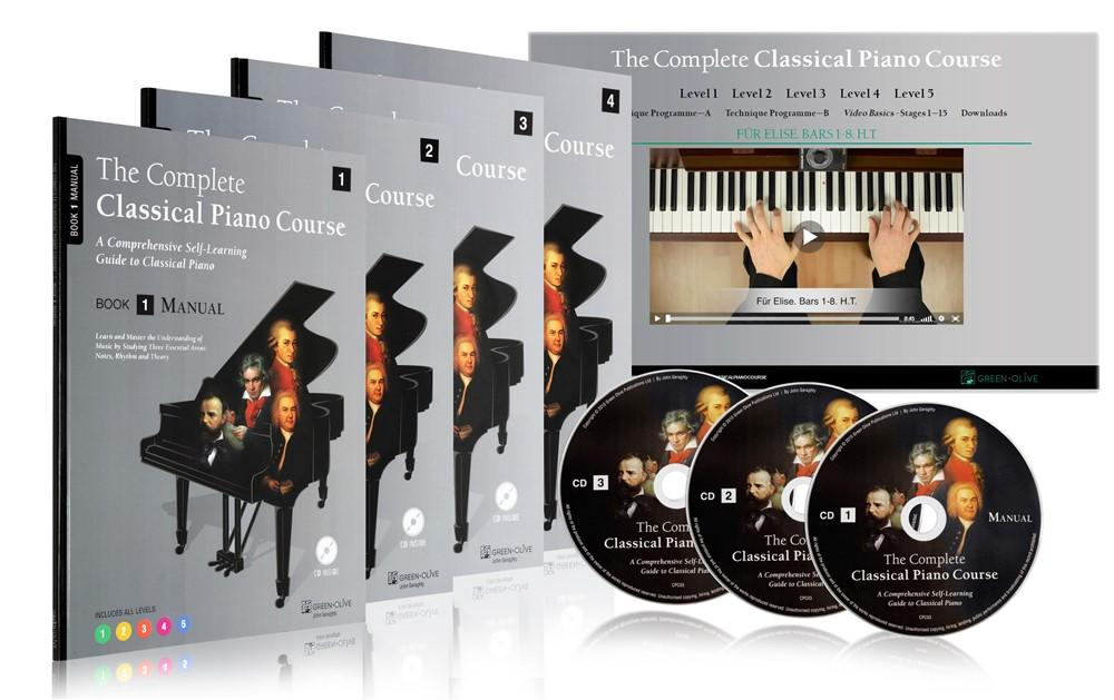 The Complete Classical Piano Course Green Olive Publications