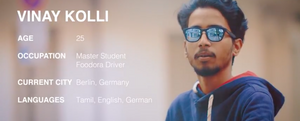 Vinay Kolli- a working student and bike courier on UNIMOKE