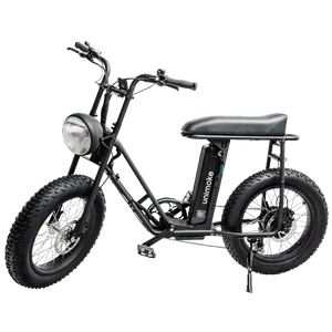 UNI Swing Utility Electric Bike Vintage Moped Black by Urban Drivestyle Portrait