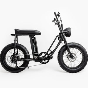 UNI Swing Utility Electric Bike Vintage Moped Black by Urban Drivestyle Right Side