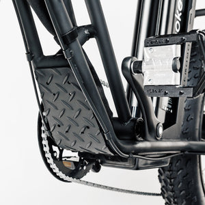 UNI Swing Utility Electric Bike Vintage Moped Black by Urban Drivestyle Splash Guard
