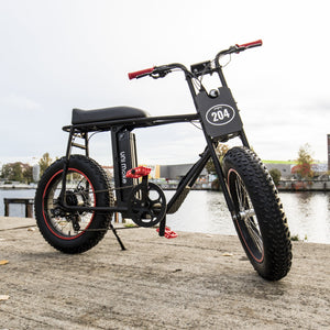 UNI Bobber XT 500W with 750W Peak E-Bike Black Red 20x4inch wheels