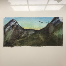 Load image into Gallery viewer, Original Watercolour: Before The Sun Rises-Styles > Landscapes, Techniques > Original Watercolours-Rutheart
