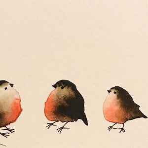 Family of Five-Styles > Birds, Techniques > Original Watercolours, Size > Small (up to 21 cm\, eg. A5), Techniques > Cards > Tiny Bird Paintings-Rutheart