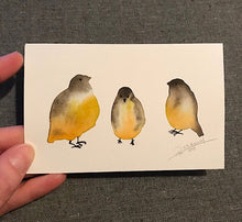 Load image into Gallery viewer, Tiny Bird Painting #16-Styles > Birds, Techniques > Original Watercolours, Size > Small (up to 21 cm\, eg. A5), Techniques > Cards > Tiny Bird Paintings-Rutheart