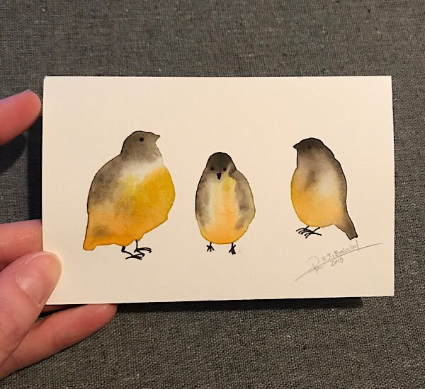 Tiny Bird Painting #16