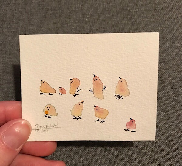 Tiny Bird Painting #20