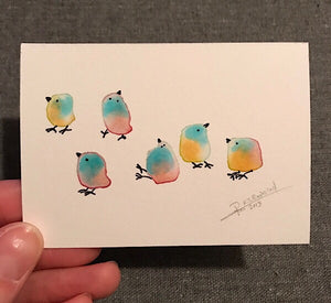 Tiny Bird Painting #19-Rutheart
