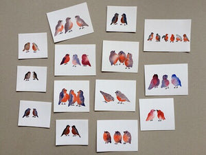 Tiny Bird Painting #15-Styles > Birds, Techniques > Original Watercolours, Size > Small (up to 21 cm\, eg. A5), Techniques > Cards > Tiny Bird Paintings-Rutheart