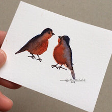 Load image into Gallery viewer, Tiny Bird Painting #4-Styles > Birds, Techniques > Original Watercolours, Size > Small (up to 21 cm\, eg. A5), Techniques > Cards > Tiny Bird Paintings-Rutheart