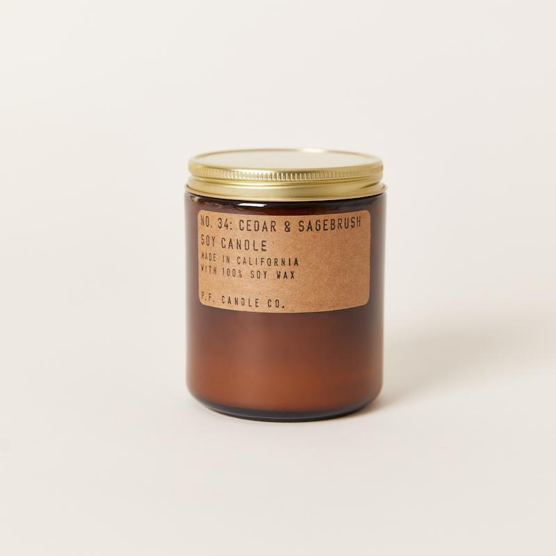 PF Candle Co Europe Cedar and Sagebrush standard soy wax candle