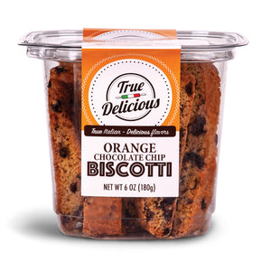 Orange Chocolate Chip Biscotti - True Delicious | Authentic Italian Desserts