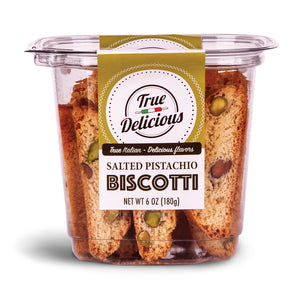 Salted Pistachio Biscotti - True Delicious | Authentic Italian Desserts