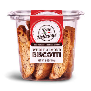 Whole Almond Biscotti - True Delicious | Authentic Italian Desserts