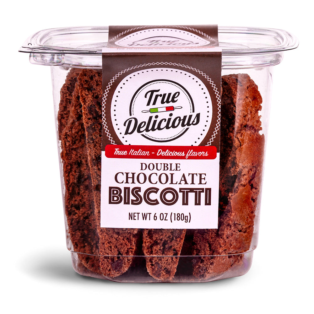 Double Chocolate Biscotti - True Delicious | Authentic Italian Desserts