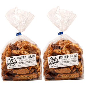2 lb Biscotti Bits Mixed Flavors - True Delicious | Authentic Italian Desserts