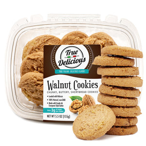 Walnut Shortbread Cookies (2-Pack) - True Delicious Biscotti