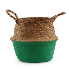 Load image into Gallery viewer, Two-color seagrass basket