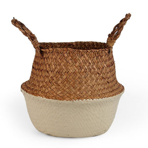 Two-color seagrass basket