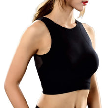 Load image into Gallery viewer, Padded sports bra with mesh side panels