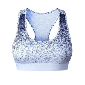 Two-color speckled bra top