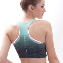 Load image into Gallery viewer, Racer-back sunset-fade sports bra