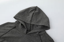 Load image into Gallery viewer, Cotton-blend gray Yoga hoodie
