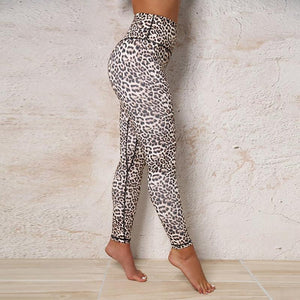 High waisted leopard pattern pants