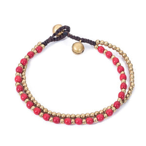 Boho two-string colored bracelet