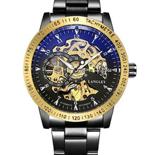 Load image into Gallery viewer, Top Luxury Brand Mechanical Watch Men's Automatic Self wind Wristwatch Stainless Steel Skeleton Fashion Clock Male Steampunk