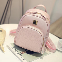 Load image into Gallery viewer, Candy New Cute College Wind Mini Shoulder Bag High Quality PU Leather Fashion Girl 2018 Color Small Backpack Female Bag