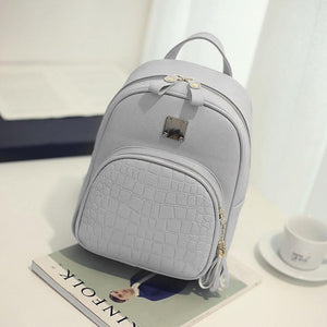 Candy New Cute College Wind Mini Shoulder Bag High Quality PU Leather Fashion Girl 2018 Color Small Backpack Female Bag