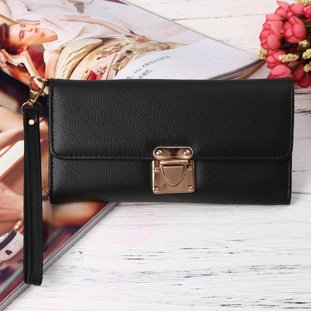 Fashion New Women Synthetic Leather Wallet Bag Handbag Tote Purse