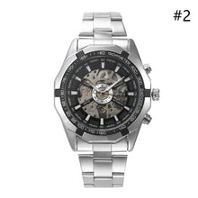 Load image into Gallery viewer, Mens Stainless Steel Strap Skeleton Mechanical Watch