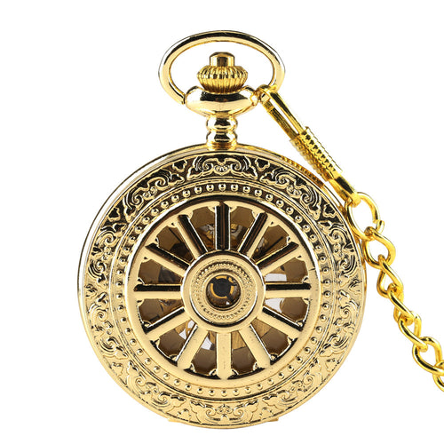 Men's Pocket Watch, Luxury Gold Pocket Mechanical Watch Fashion Women Men Pendant, Gift for Men