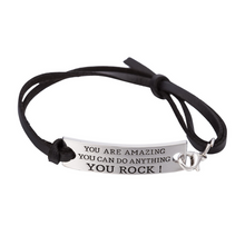 "Load image into Gallery viewer, Lisa Tamati ""You Are Amazing, You Can Do Anything, You Rock"" Bracelet"