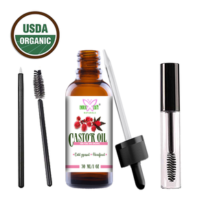 Castor Oil 100% Organic and Natural Cold-Pressed