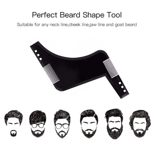 Beard Styling Template Shaping Tool with Comb