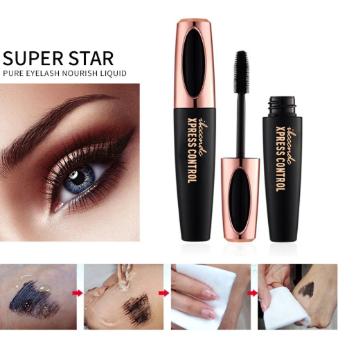 Long Lasting Waterproof Silk Fiber Eyelash Extension Mascara