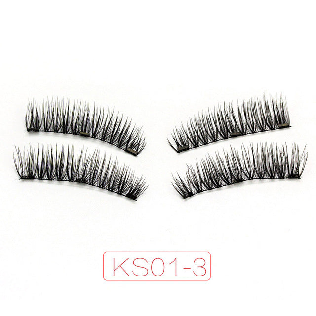 Magnetic eyelashes with 3 magnets handmade 3D magnetic lashes