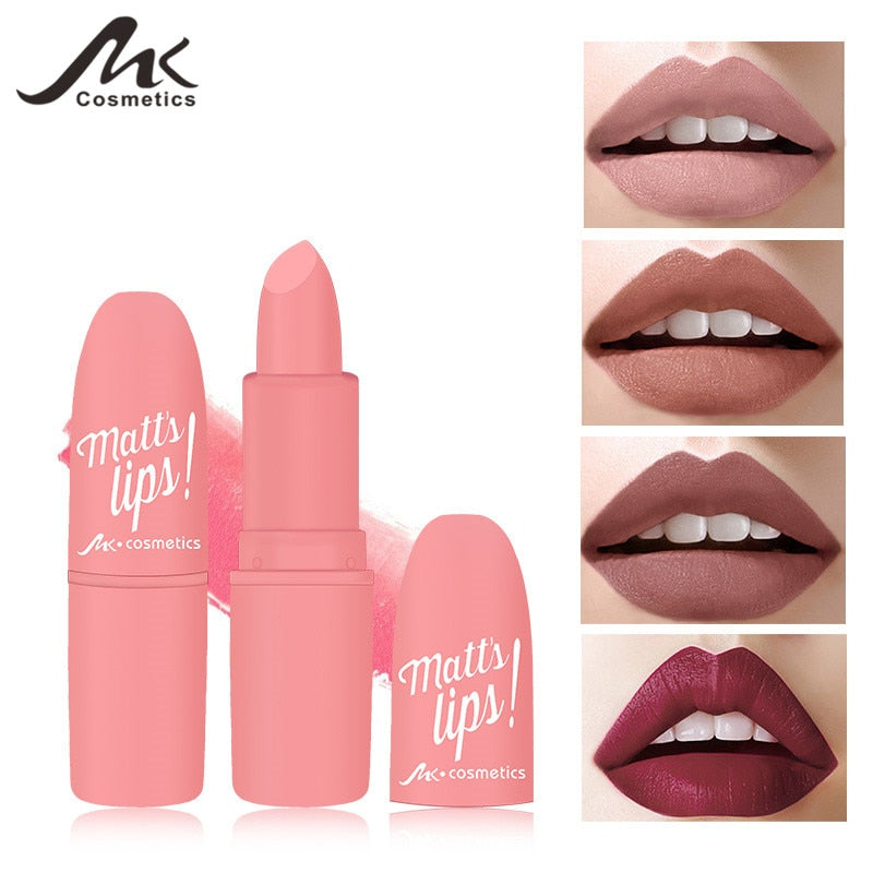 12 Colors Nude Matte Lipsticks batom mate Sexy Lips Color