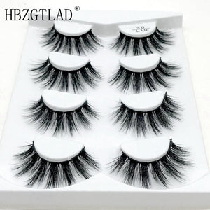 1/4 Pairs Natural False Eyelashes Fake Lashes Long Makeup