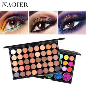 40 Color Matte Eyeshadow Pallete glitter powder Eye Shadows