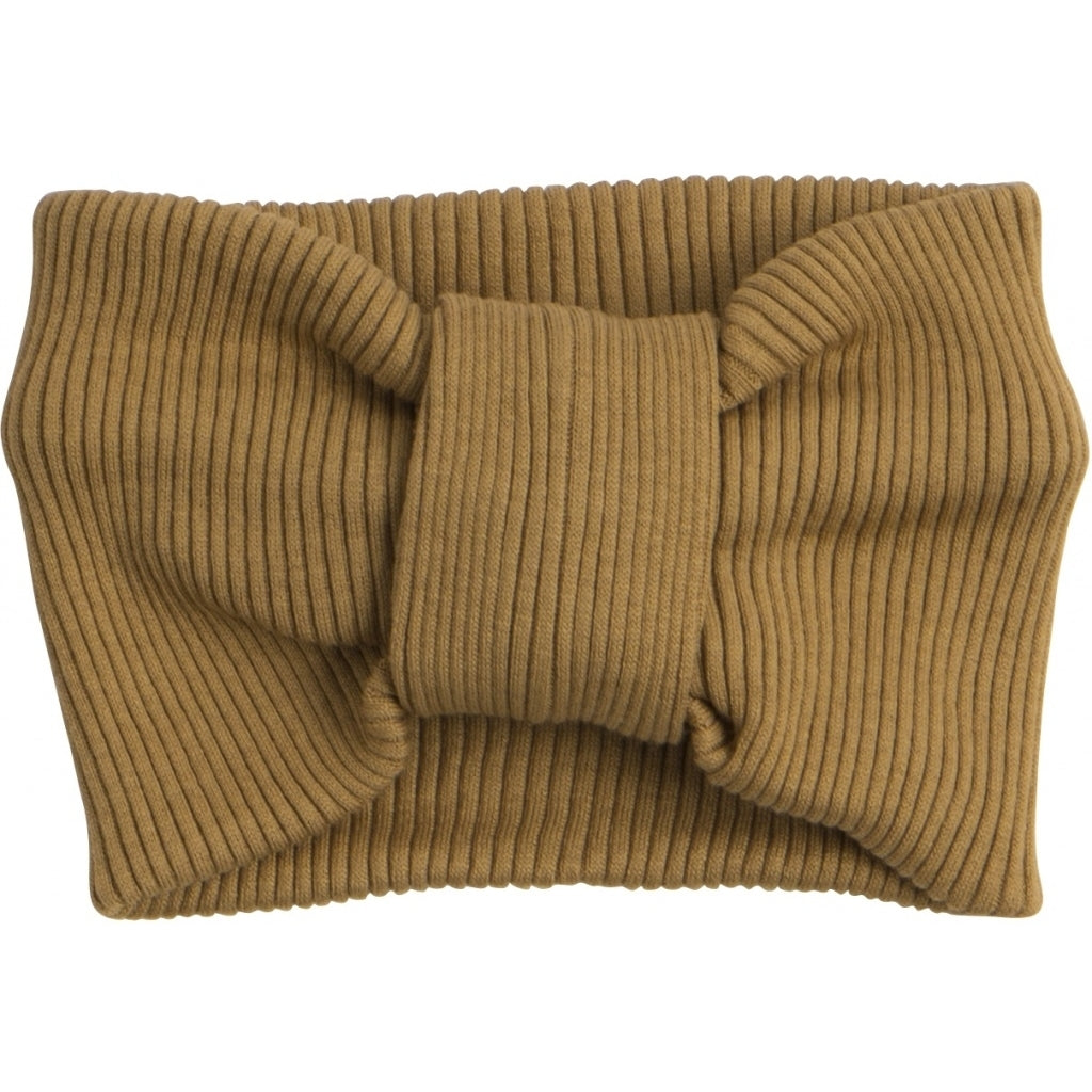 Bib / Hairband / Acc babies wear organic sustainable luxurious fashion children clothes silk seamless merino wool natural design nordic minimalisma shop sale Bi Golden Leaf--31768158175313,31768158208081