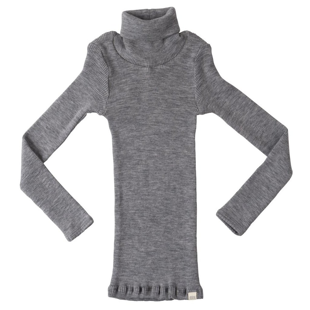 Blouse babies wear organic sustainable luxurious fashion children clothes silk seamless merino wool natural design nordic minimalisma shop sale Alf 6-14Y Grey Stripes