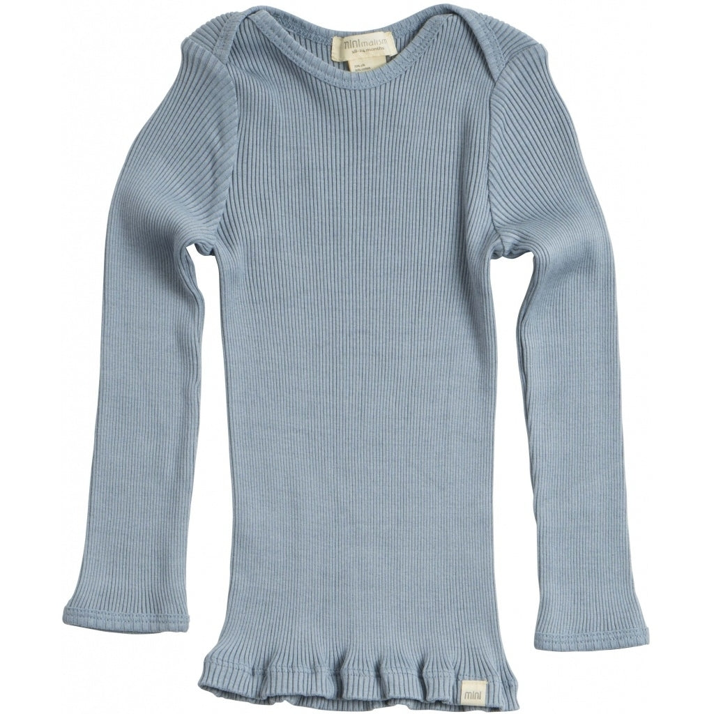 Blouse babies wear organic sustainable luxurious fashion children clothes silk seamless merino wool natural design nordic minimalisma shop sale Belfast Clear Blue