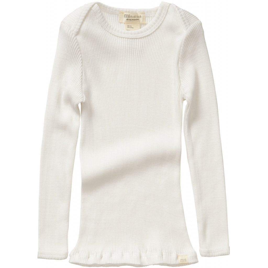 Blouse babies wear organic sustainable luxurious fashion children clothes silk seamless merino wool natural design nordic minimalisma shop sale Belfast Cream